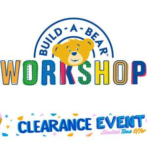 Clearance Event - Up To 50% Off Bears / Costumes / Sounds / T-shirts / Accessories (Delivery £3.99) + More @ Build A Bear