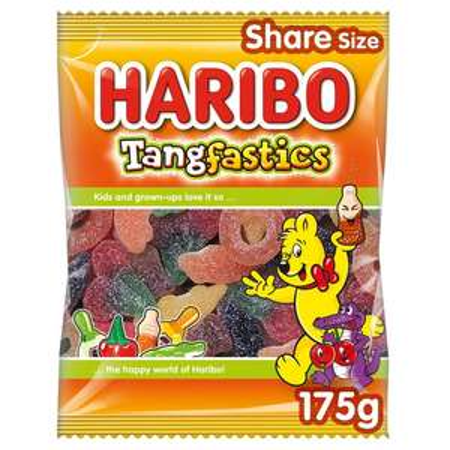 Haribo Tangfastics / Starmix / Giant Strawbs Vegetarian / Gold Bears / Supermix Sweets Share Bag 175g 79p @ Morrisons