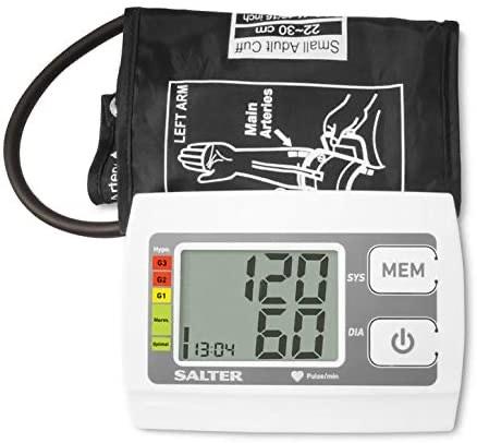 Salter Automatic Upper Arm Blood Pressure Monitor, Heartbeat Detector, Hypertension Indicator - £15.19 Prime (+ £4.49 Non Prime) @ Amazon