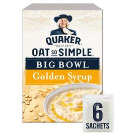 Quaker Oat So Simple Big Bowl Golden Syrup Porridge Sachets 6x49.6g £1 @ Iceland