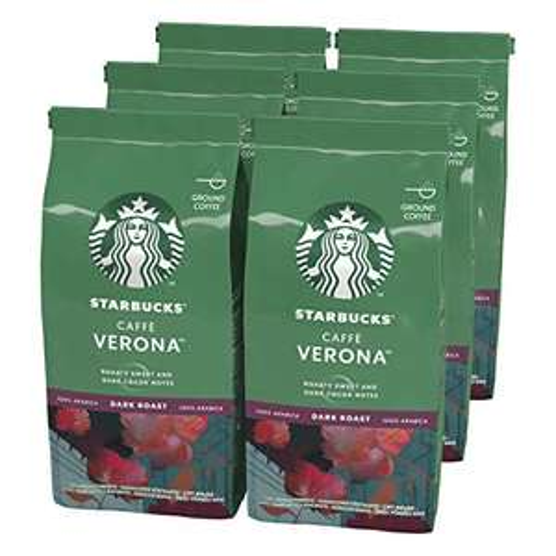 Starbucks Caffè Verona Dark Roast Ground Coffee 200 g Bag (Pack of 6) - £13.36 Prime / +£4.49 non Prime @ Amazon
