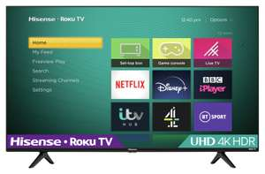 Hisense Roku 43 Inch R43A7200GTUK Smart 4K LED Freeview TV - £299 + free Click and Collect @ Argos