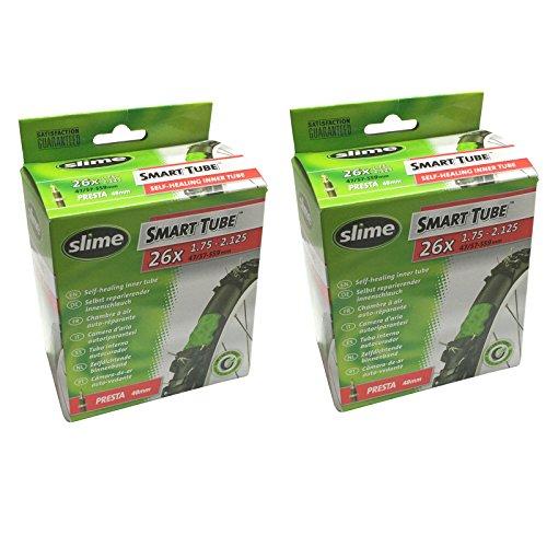 """Slime Smart Tube Self Healing 26"""" x 1.75-2.125 Presta Inner Tubes (Pack of 2) - £8.58 (Prime) + £4.49 (non Prime) at Amazon"""