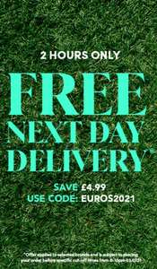 Free Next Day Delivery with code - 2 hours only @ Debenhams