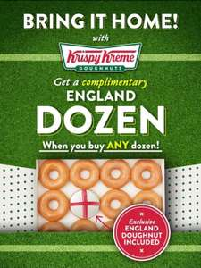Buy any dozen Krispy Kreme Donuts and get a free Dozen Doughnuts on Wednesday the 7th of July