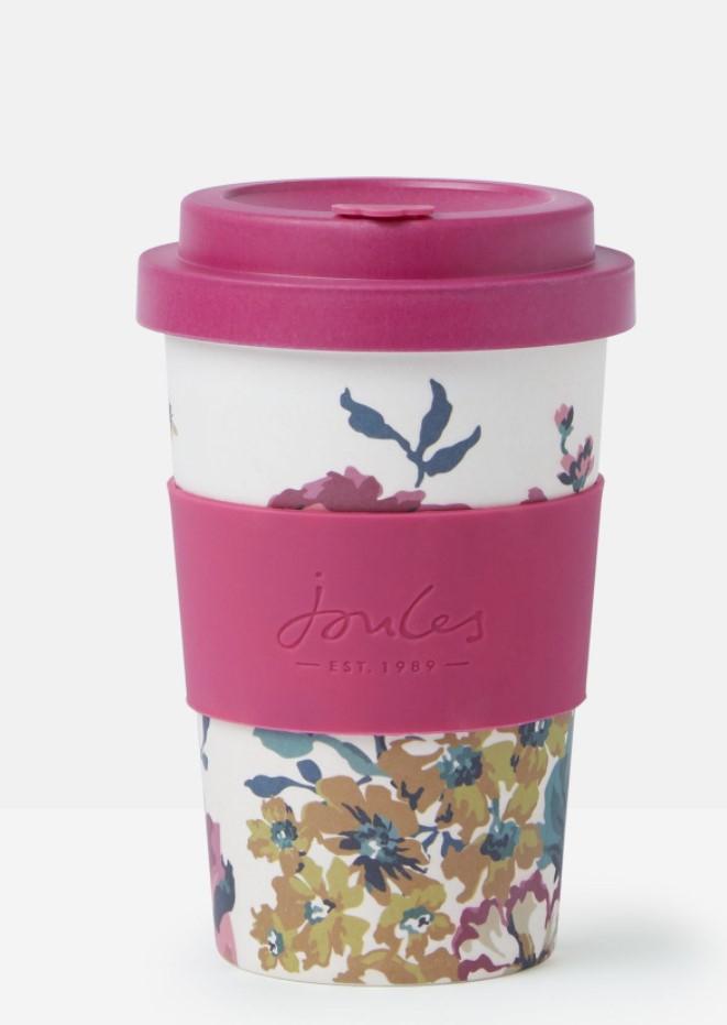Joules Floral Bamboo Travel Mug - 400ml, £2.50 (Free click and collect at Selected Stores) at Argos