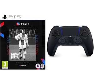 PS5 DualSense Controller Bundle (Midnight Black / White) & FIFA 21 NXT LVL (PS5) - £64.99 Delivered @ Currys PC World