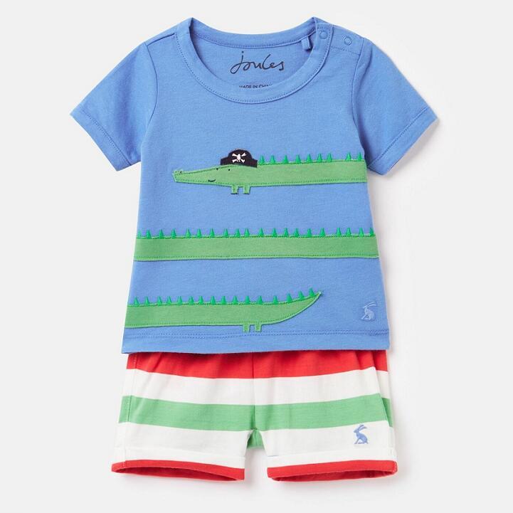 Joules Baby Boys Wave Applique Set - Blue Crocodile £5.95 delivered @ eBay / Joules