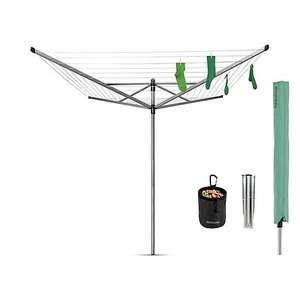Brabantia 50 Metre 4 Arm Liftomatic Rotary Washing Line + 1 x Ground Spike, 1 x Cover and Pegs £63.20 (Click & Collect) @ Dunelm