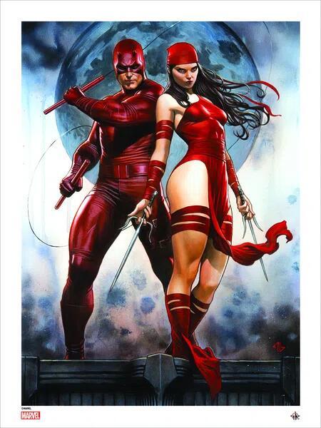 Marvel Comics: Giclee Print: Daredevil & Elektra By Adi Granov (SIGNED) 300gms cotton rag - 3 Designs £10.49 delivered @ Forbidden Planet