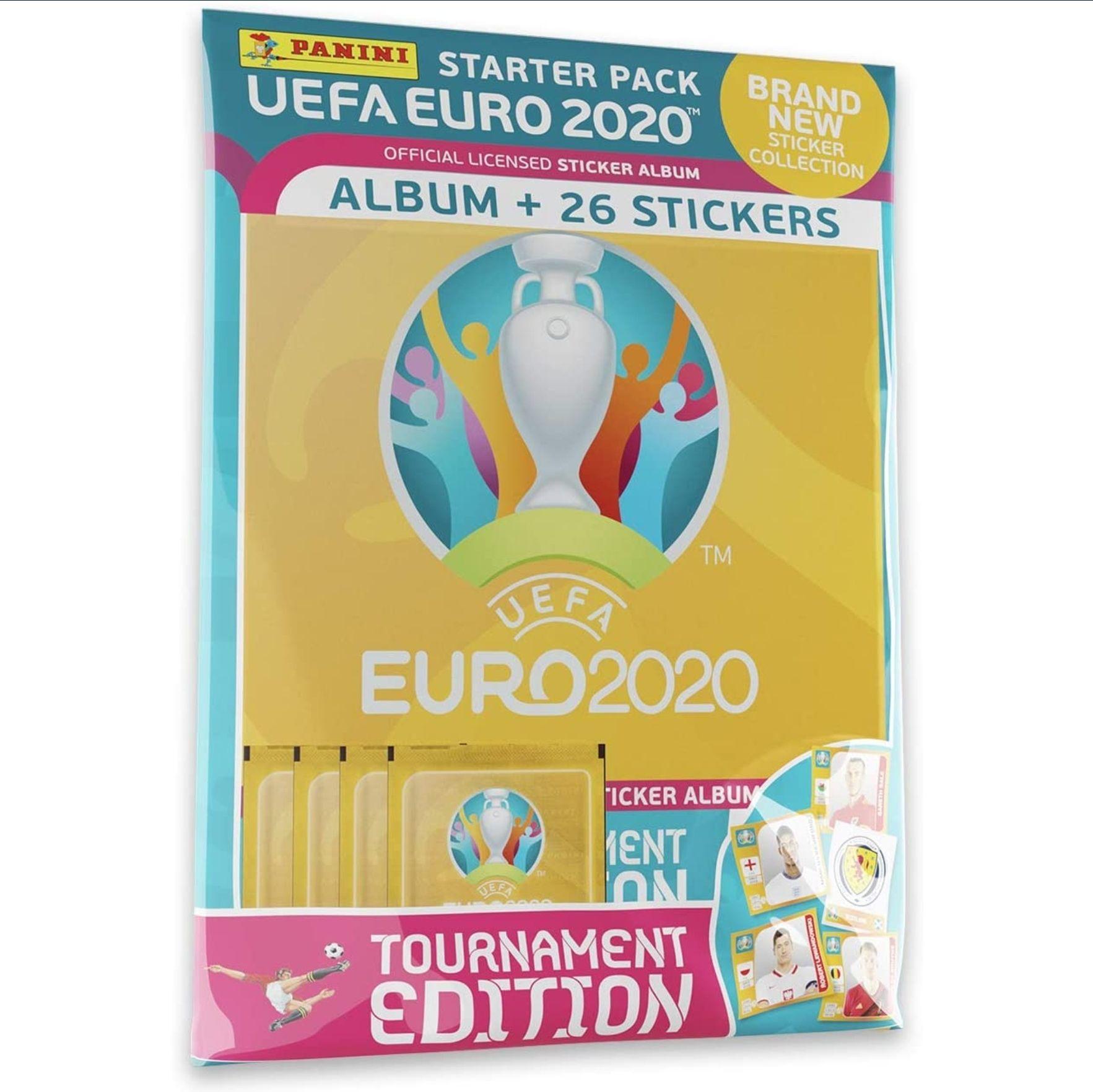 Panini UEFA Euro 2020 Sticker Collection Starter Pack £3.37 prime / £7.86 non prime @ Amazon