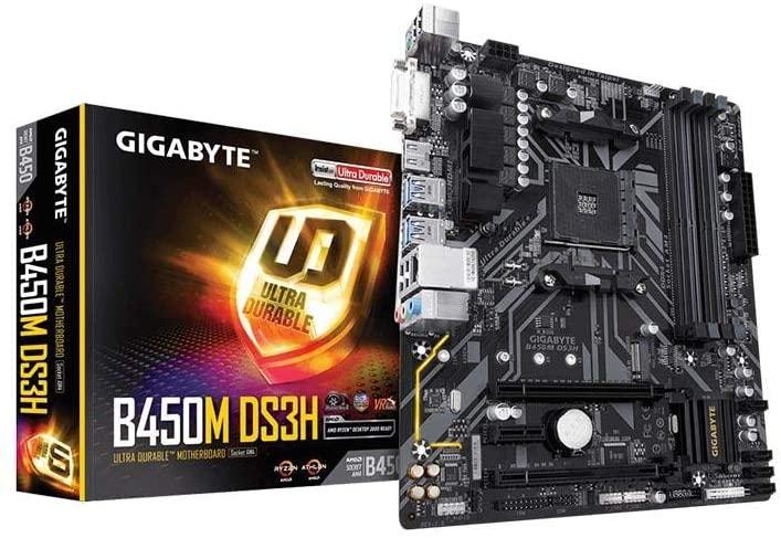 Gigabyte B450M DS3H (Socket AM4/B450/DDR4/S-ATA 600/Micro ATX) £43.50 @ Amazon