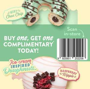 Buy one get one free on new ice-cream inspired Krispy Kreme doughnuts Today only Tues 6th of July @ Krispy Kreme Stores