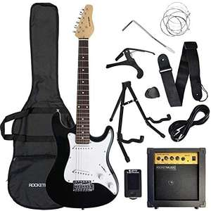 ROCKET XF 3/4 Size Electric Guitar Bundle + 6 months free online music lessons with Gigajam @ Currys PC World