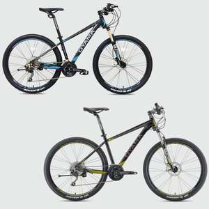 """Oyama Spartan 3.7 Mountain Bike 15"""" - Black & Yellow or Black & Blue - £468.99 Delivered @ Merlin Cycle's"""