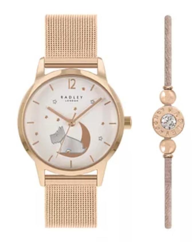 Radley Ladies' Rose Gold Tone Watch & Bracelet Gift Set Now £44.99 @ H Samuels