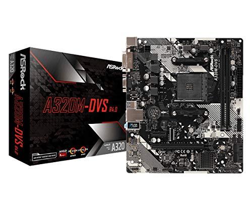 ASRock AMD A320M DVS R4.0 Ryzen AM4 Micro ATX Motherboard, £27.63 at Amazon