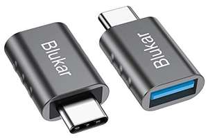 Blukar USB C to USB A 3.0 Adapter, [2-Pack] Thunderbolt 3 - £3.59 (+£4.49 Non-Prime) @ Beikell Store / Fulfilled by Amazon