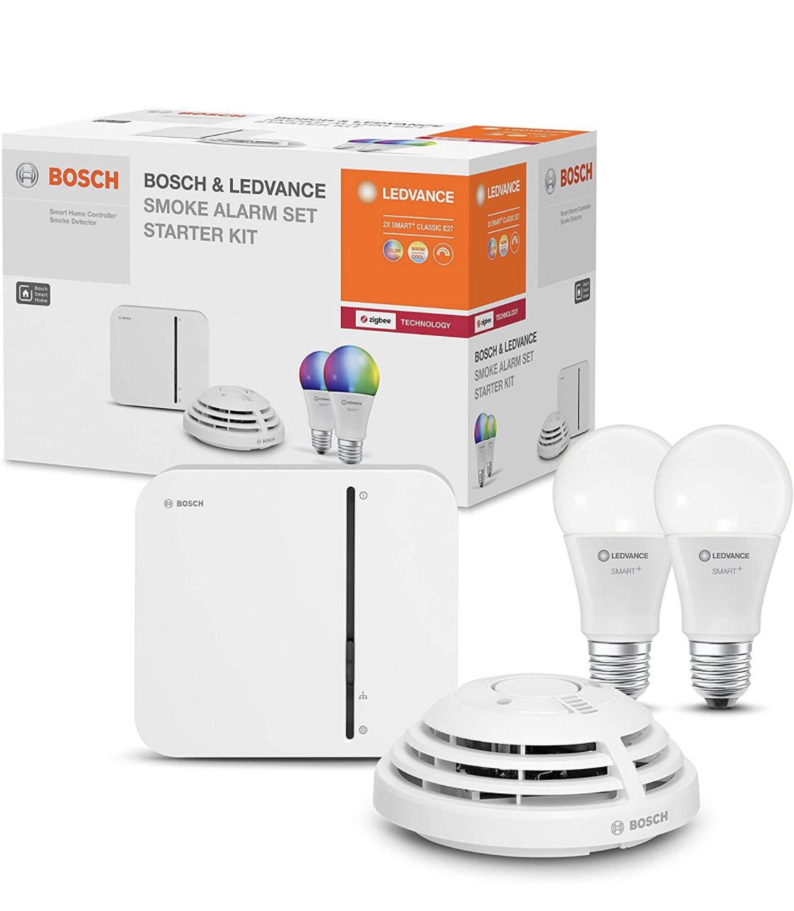 LEDVANCE & BOSCH Smart Home Smoke Alarm Set (Starter-Kit) £43.77 delivered @ Amazon