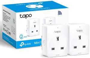 TP-Link Tapo Smart Plug Wi-Fi Outlet 2 pack £13.99 (+£4.49 nonPrime) at Amazon