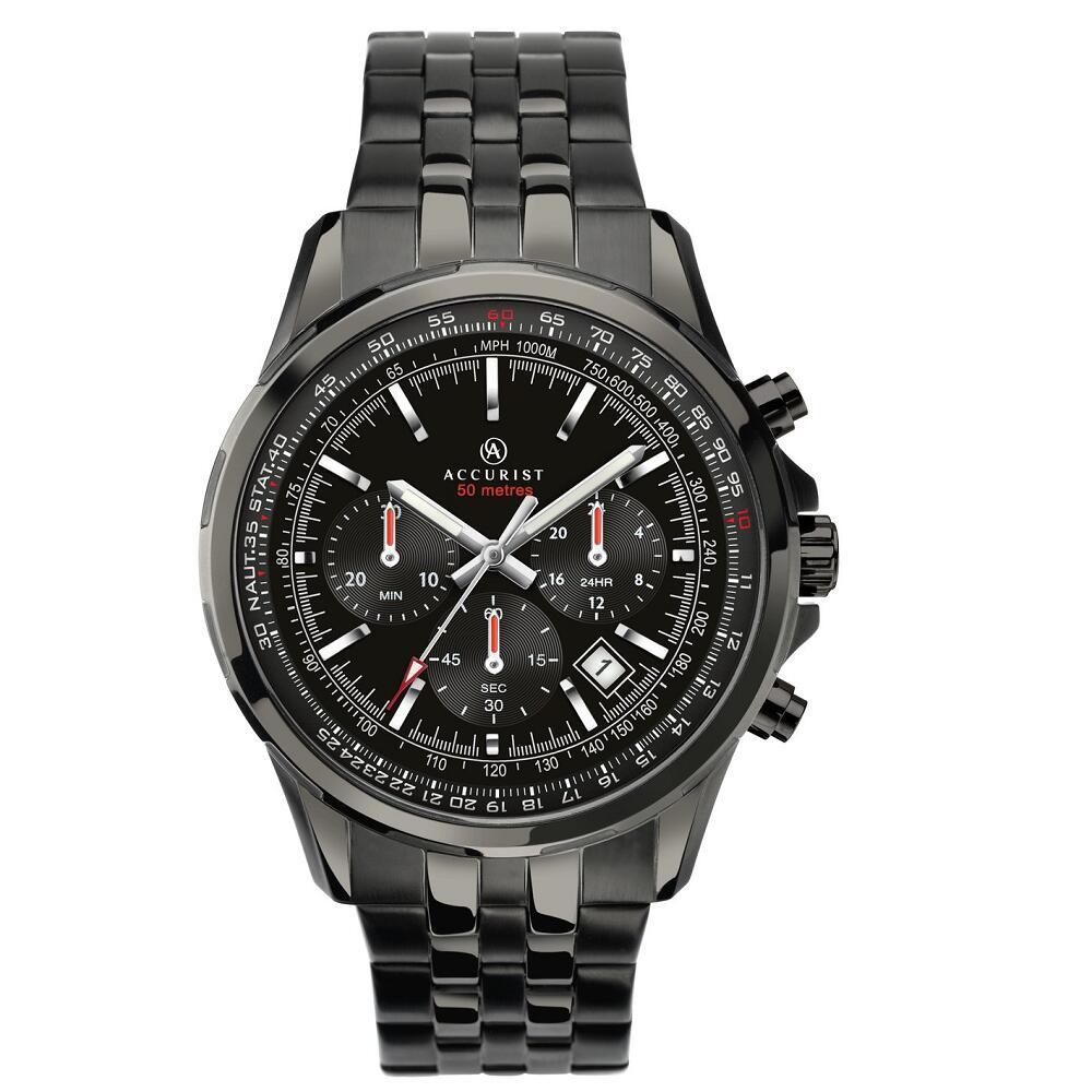 Accurist Men's Black Stainless Steel Bracelet Watch £48.99 click & collect @ Argos