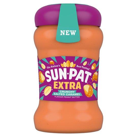 Sun Pat Extra Salted Caramel Crunchy Peanut Butter 300G £1.50 clubcard price @ Tesco