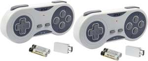 2 Pack iMW Wireless Gaming Controller for NES   Super NES Classic Edition, £3.98 (+£4.49 non prime) at Amazon
