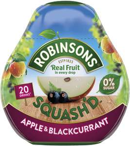 Robinson's apple and blackcurrant squash'd travelpack 25p at Sainsbury's local fenchurch Street branch, London