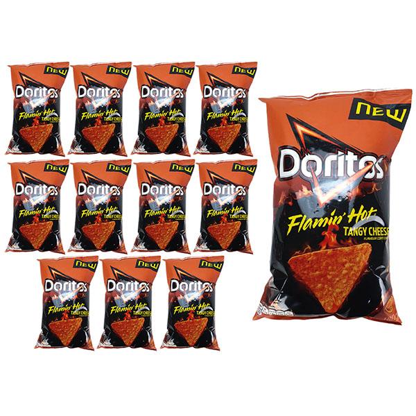 12 x Doritos Flamin' Hot Tangy Cheese 180g Sharing Packs - £6 deilvered @ Yankee Bundles