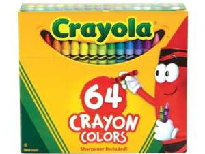 Crayola 64 Crayons Pack £4.99 + £1.99 delivery (free delivery over £9.99) @ Bargainmax (Mainland UK)