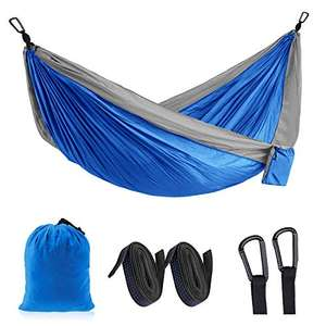 Idefair Travel Double Camping Hammock - £11.39 Prime (+£4.49 Non Prime) Sold by Topgood and Fulfilled by Amazon