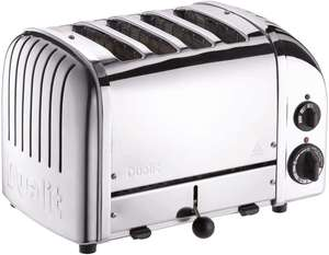 Dualit Classic 4 Slot Toaster With Sandwich Cage, Polished Stainless Steel - £154.99 @ Costco