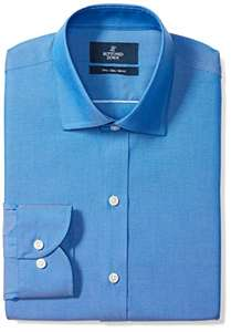 Buttoned Down Men's Slim Fit Spread Collar Pinpoint Dress Shirt French Blue 14.5'' Neck / 32'' Sleeve £3.37 (+£4.49 non prime) @ Amazon