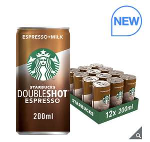 Starbucks® Doubleshot Espresso, 12 x 200ml £8.49 available 12 July (Members Only) @ Costco