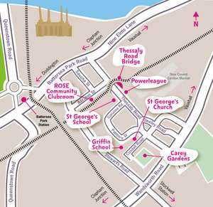 FREE London Nine Elms Happy Streets Festival 10 July outdoor circus, music etc