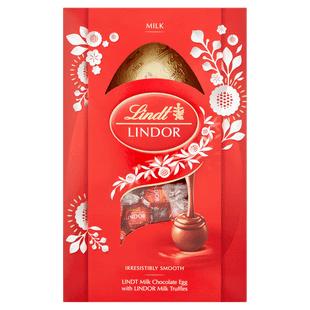 Lindt LINDOR Milk Easter Egg 260g - Short Dated Stock* - £3 + £4.95 Delivery @ Lindt Shop