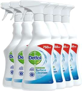 Dettol Antibacterial Bulk Surface Cleaning Spray 750ml Pack of 6 - £9 (+£4.49 nonPrime) Amazon