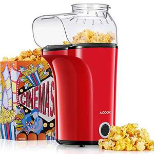 Popcorn Maker 1400W Hot Air Popcorn Maker Machine - £17.99 using voucher Prime / +£4.49 non Prime Sold by KHealthyU and Fulfilled by Amazon