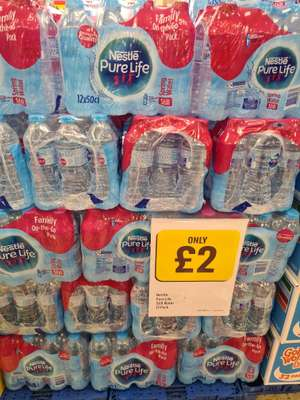 Nestle pure life still water. 12 pack £2 and sports cap 10 pack for £1.75 @ Iceland