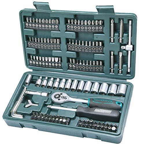 Mannesmann Socket wrench set 130 Pieces Socket Chrome vanadium £20.75 at amazon Germany (UK mainland)