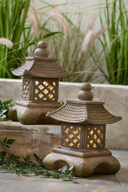 Set of 2 Solar Pagoda Lanterns £16.16 delivered at Studio
