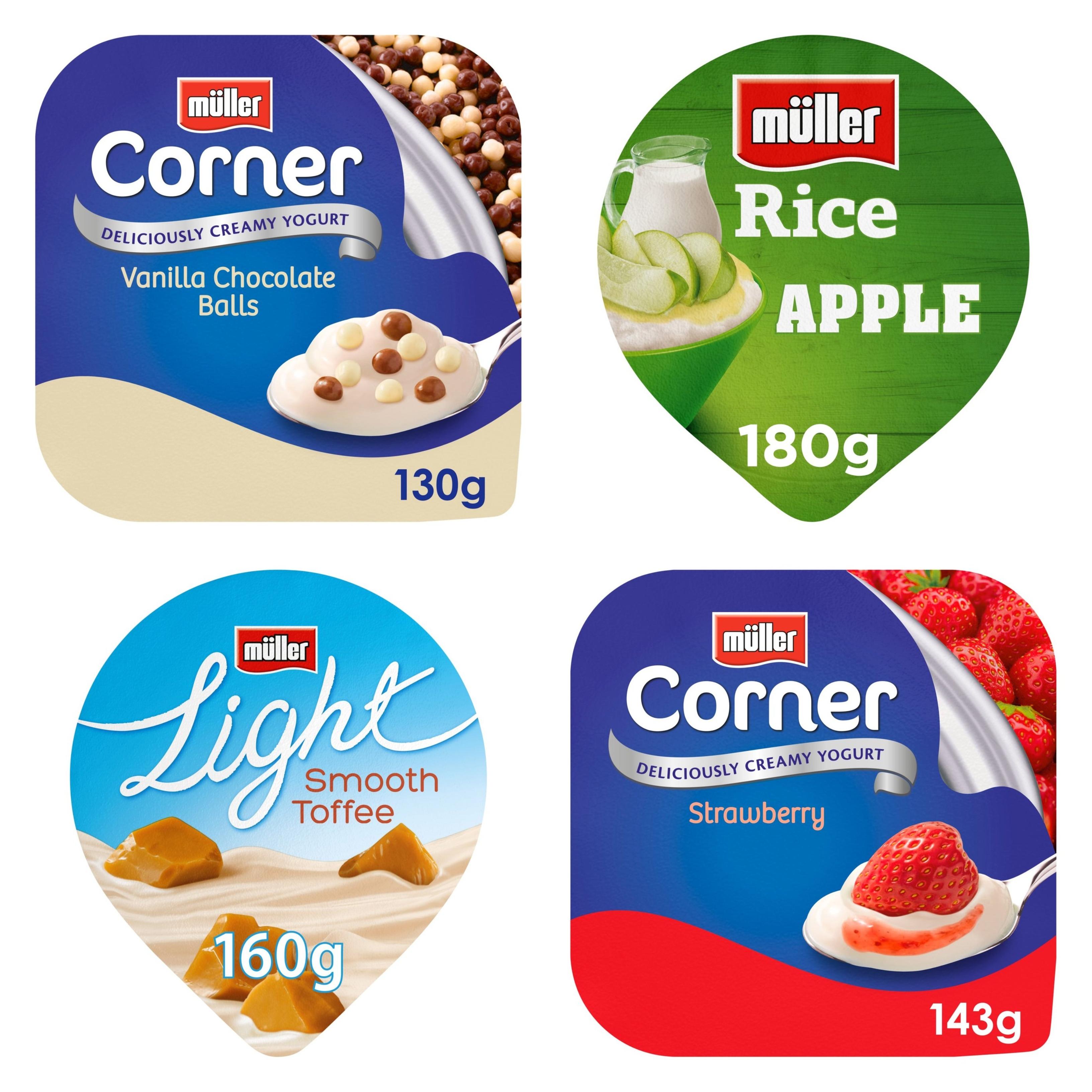 Muller Corner / Light / Rice - Any 10 for £3 @ Morrisons