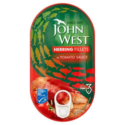 John West Herring Fillet in Tomato Sauce 160g 45p instore at Morrisons Livingston (Almondvale)