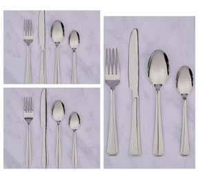 16 Piece Cutlery Set - Deco / Figure / Form - £3.00 ( with free click and collect selected locations ) @ Dunelm