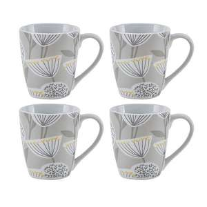 Emmott Grey Pack of 4 Mugs £4.00 Free C&C in Limited LOcations @ Dunelm
