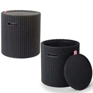 Keter Mia Anthracite Cool Stool - £25 (New B&Q Club Members) Using Click & Collect @ B&Q