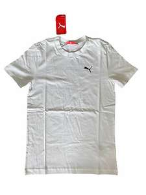 Puma T-Shirt Men's Essentials Logo Graphic Casual T-Shirt - White Size XS £4.99 delivered @ sofabsportscic / ebay