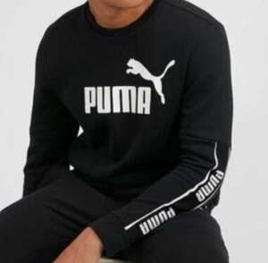 PUMA - Amplified Sweatshirt (Black) Mens Size XS (35/36'') £9.99 delivered @ footasylumoutlet / ebay