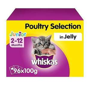 Whiskas 2-12 kitten Food Poultry or fish selection in Jelly £26.93 (UK Mainland) ebay / marspetcare_store