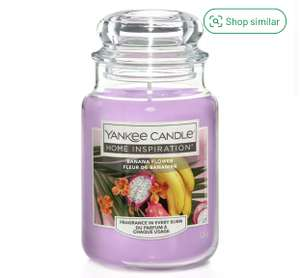 Yankee Candle Home Inspirations Large Jar Candle - Banana Flower £10.50 Click & Collect @ Argos